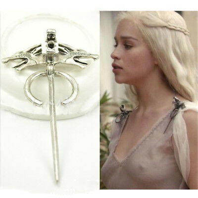 Game of Thrones Daenerys's Dragon Brooch Pin Movie Jewelry Cosplay Accessories