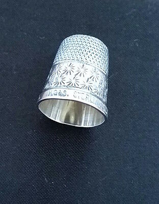 Vintage HG&S Sterling Silver THE SPA English Sewing Thimble ?Birmingham 1928