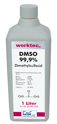 DMSO 99,9%, 1 Liter, Dimethylsulfoxid 1000 ml in HDPE Flasche reinst