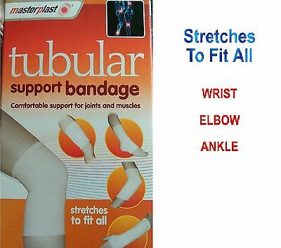 Tubigrip style tubular support bandage for joint muscles Stretches To Fit All