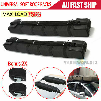 2X Car Roof Soft Racks Top Luggage Carrier Surf Kayak Surfboard Canoe Ski SUP