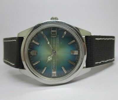 Vintage Men's Citizen Newmas Hand-Winding With Date Excellent Wrist Watch