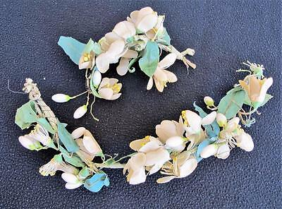 2 x Vintage 1930's Bridal Wedding Wired Wax Orange Blossom Flower Posies