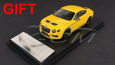 Car Model Almost Real Bentley Continental GT3-R 2015 1:43 (Yellow) + SMALL GIFT!