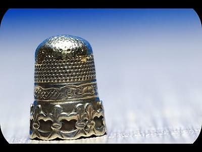 Antique 19th Century Russian Silver  Thimble---732