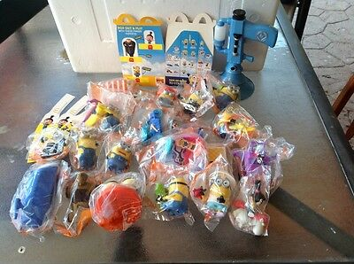 McDonalds Despicable Me 3 Happy Meal Toys - Full Set Of 21 , with fart gun