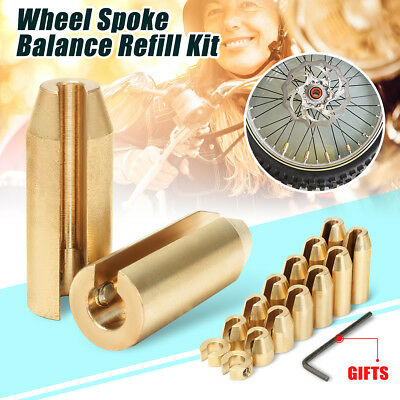 14 pcs Reusable Motorcycle Brass Wheel Spoke Balance Weight for BMW GS Model KTM