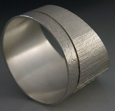 Christopher Lawrence Modernist Sterling Silver Textured Napkin Ring 1974 Rare