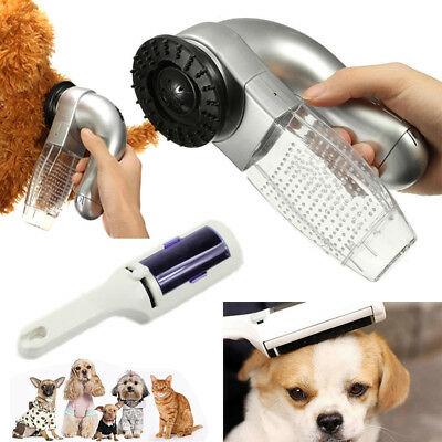 Cat Dog Pet Hair Remover Shedding Grooming Brush Comb Vacuum Cleaner Trimmer PP