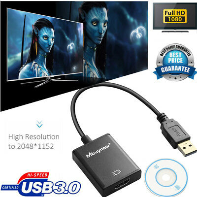 USB 3.0 to HDMI HD 1080P Video Cable Adapter Converter for PC Laptop HDTV AH150