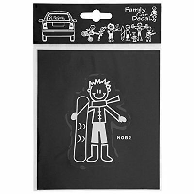Family Car Decals ADH06669 Adesivo Snowboard My Family (l9F)