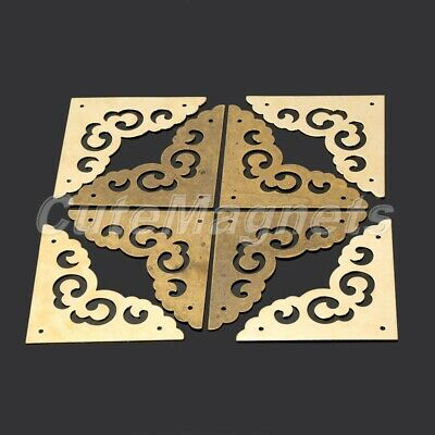 4.5CM Flat Brass Corner Protector Hardware Vintage Cabinet Jewelry Box Chest UK