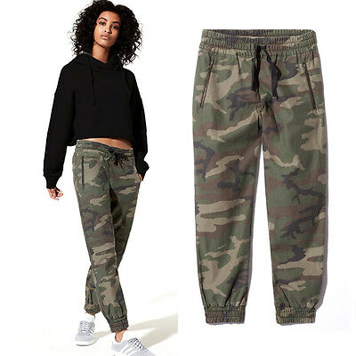 Women's Cargo Pants Casual Trousers Military Combat Army CAMO Shorts Pattern UK
