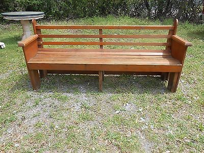 Antique Folk/Country  Bench 6 feet 4 &1/2 inches Length
