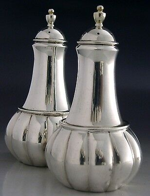 QUALITY SCOTTISH STERLING SILVER PEPPER POTS HEAVY 133g T A HENN SUPERB