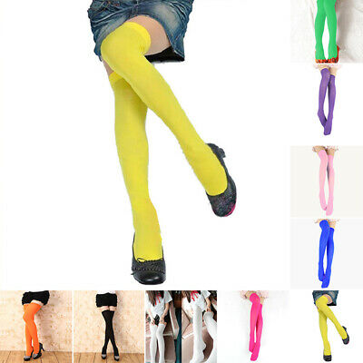 Ladies Over The Knee Thigh High Womens Stretch Girls Socks School Stockings