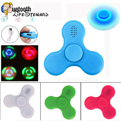 ABS LED Light With Bluetooth Speaker Hand Fidget Spinner Gyro Anti-anxiety Gyro