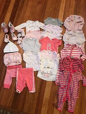 Mixed Bulk Lot 27 ITEMS Size 000 and 00 Baby Girl Bonds Clothing