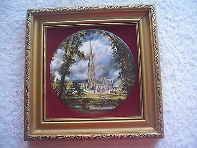 Genuine Staffordshire Ceramics Hand Made by Harleigh China Co Framed Plaque VGUC