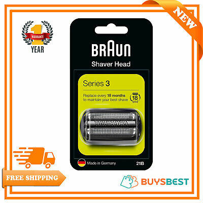 Braun 21B Series 2 Electric Shaver Replacement Foil & Cassette Cartridge - Black