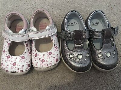 Baby Girl Clarks Shoes Size 3 1/2 F Pre Walkers Cruisers