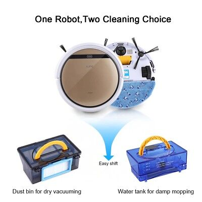 ILIFE V5S Pro Smart Robotic Vacuum Cleaner Dry Wet Sweeping Cleaning Sweeper US