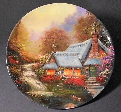 Ceramic plate decorative, house, rural scene