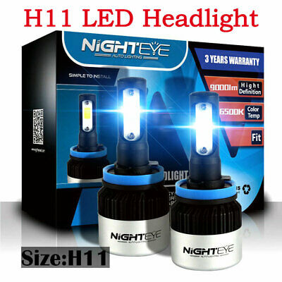 NIGHTEYE- H11 H8 H9 LED Headlight 50W 8000LM Globe 6500K HID White Fog Bulbs Kit