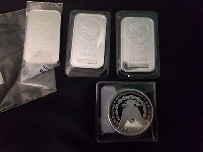 4  1 oz  pure silver pieces bullion