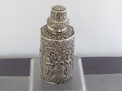 Argent Massif Chinese Silver Indian Silver Box Boite Extreme Orient