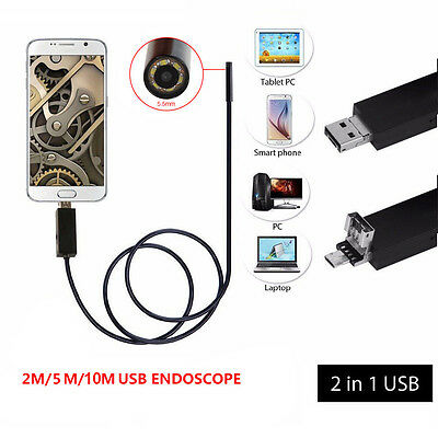 For Android Smartphone 6 leds 5.5mm 7mm 8mm USB Wire Waterproof Endoscope Camera