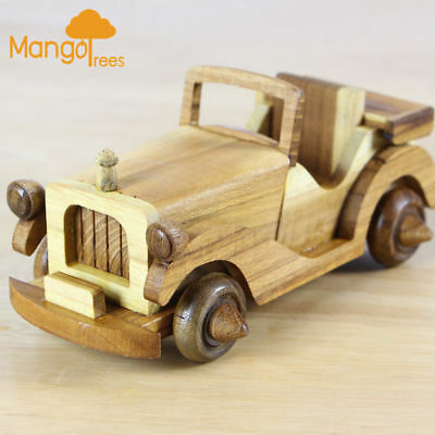 On Sale!Wooden Classic Vintage Toy Car Type A Handmade in ThailandGP609