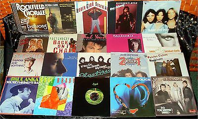 20 ROCK / POP SINGLES * TOP Zustand -ALLE m.FOTO ua. PAUL & LINDA McCARTNEY (21)