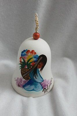 Vintage DeGrazia Flower Girl Porcelain Bell by Sandstone Creations