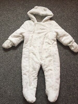 Baby Girl 9-12 Months Cosy Star Snowsuit