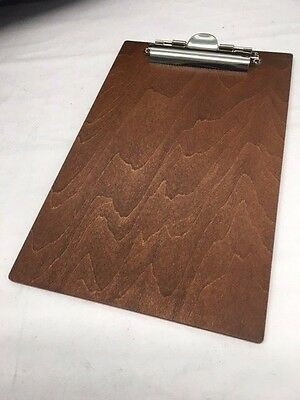 """8 Wooden Clipboards - Insert Size 8.5"""" x 5.5"""" - Great for Menus and More!"""