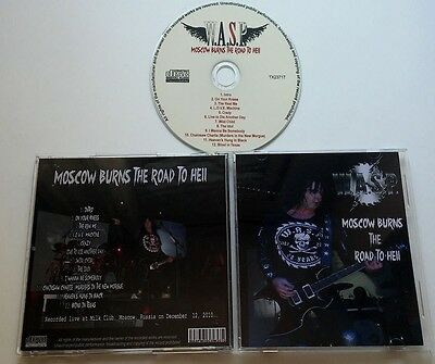 W.A.S.P. WASP Live Moscow burns the road to hell CD, motley crue, slayer, kiss,