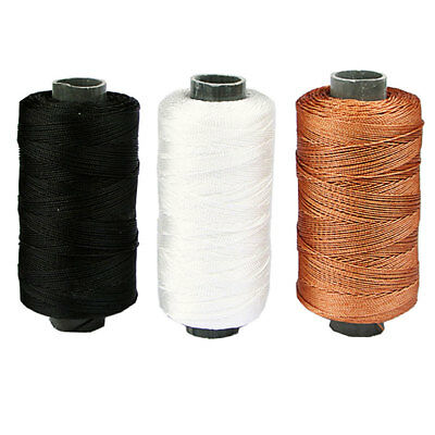300m  Leather Craft Sewing DIY Round Waxed Wax String Nylon Threads Cord 0.7mm
