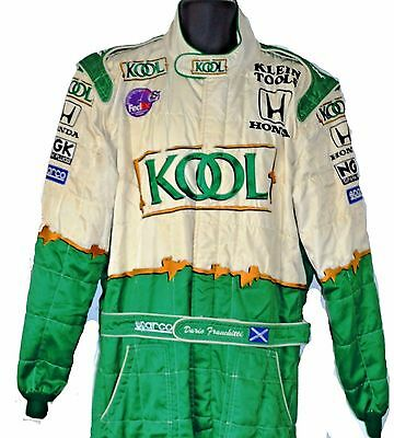 Kool Green Honda Indy Race Used Crew Suit Sparco Awesome - Very Heavy Fia Rated