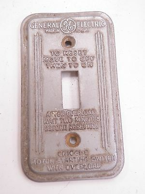 Vintage Art Deco Style GE Switch Cover Plate