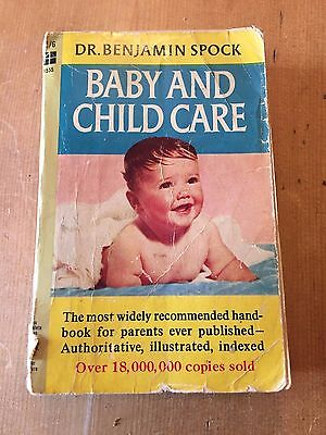 """1966 Dr Benjamin Spock """"baby And Child Care"""" Thick Paperback Book"""