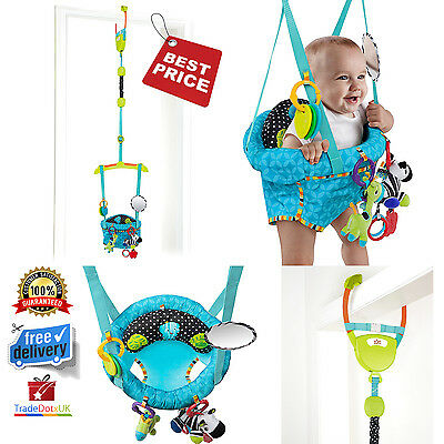 Bright Starts Baby Door Jumper Swing Bouncer Adjustable Newborn Giraffe Toys NEW
