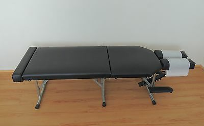 Portable Chiropractic Table; Black - in Very Good Condition!
