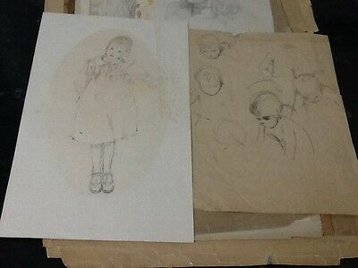 A Collection Of Late 19th Century Pencil,Watercolour And Prints By Edgar Degas