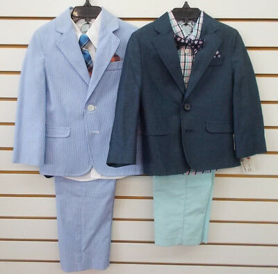 Toddler & Boys Izod $75 4pc Blue or Navy Suits Size 3T/3 - 7