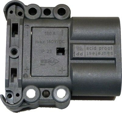 Rema Black Chassis Mount Industrial Battery Power Plug, Rated At 160A, 150 V DC