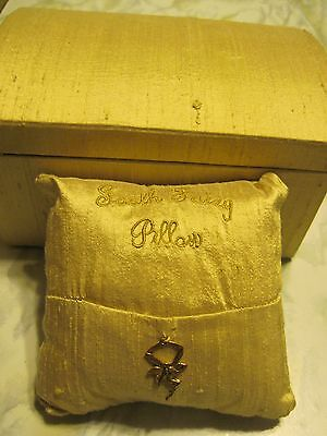 Tooth Fairy Pillow With Pocket Charm And Box Pre-Owned
