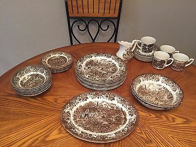 33pc *J&G Meakin* Vtg Royal Staffordshire Stafford Stage Ironstone DinnerwareSet