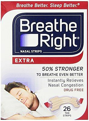 Breathe Right Extra Strong Nasal Strips Tan One Size fits all - 26 Strips