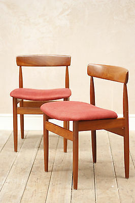Lovely Vintage Mid Century Danish Teak Dining Chairs x2
